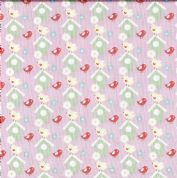 Fabric Freedom Vegetable Patch - 4620 - Birds and Nest Boxes on Pink - FF111-1 - Cotton Fabric
